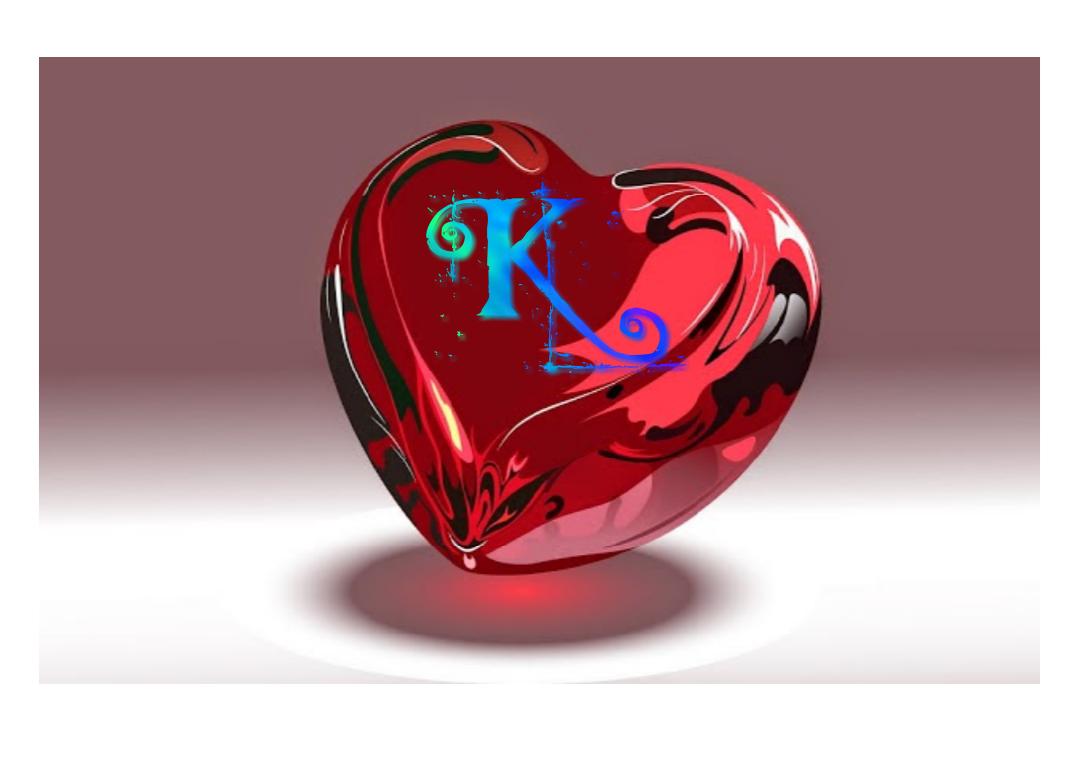 Cute Letter K In Heart Love Symbols In Hd 1162109 Hd