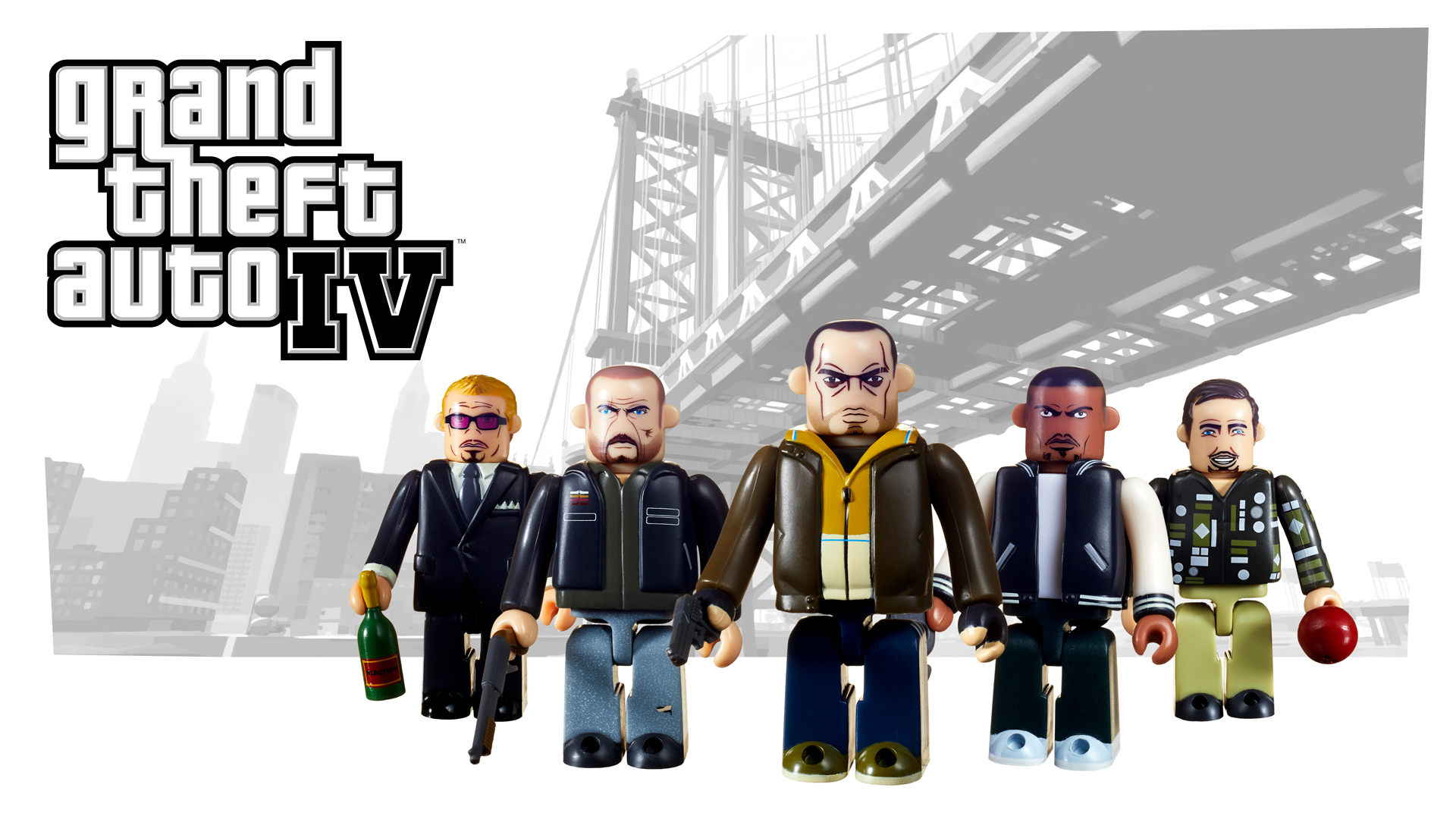 The Recent Ten Year Anniversary Of Grand Theft Auto - Gta 4 Kubrick , HD Wallpaper & Backgrounds