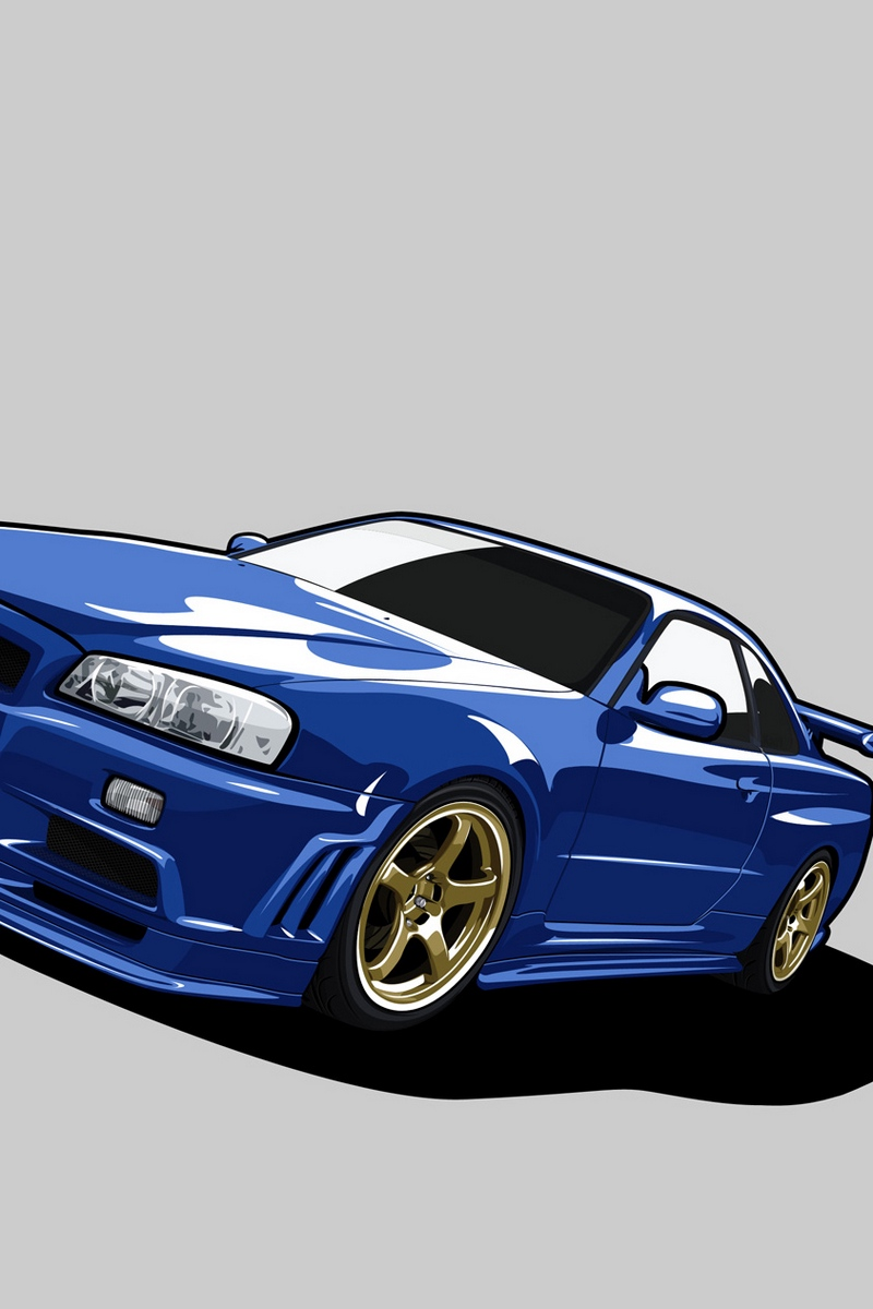 Wallpaper Nissan Skyline Gt R R34 Gtr Blue Nissan Skyline