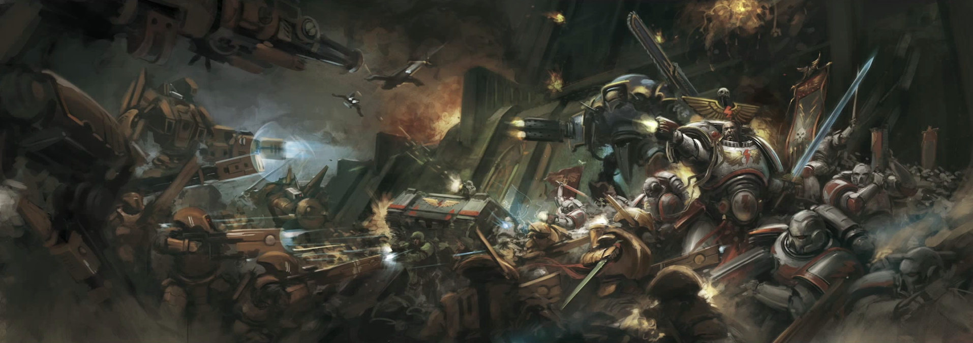 Warhammer 40k Tau Vs Imperium 1167930 Hd Wallpaper