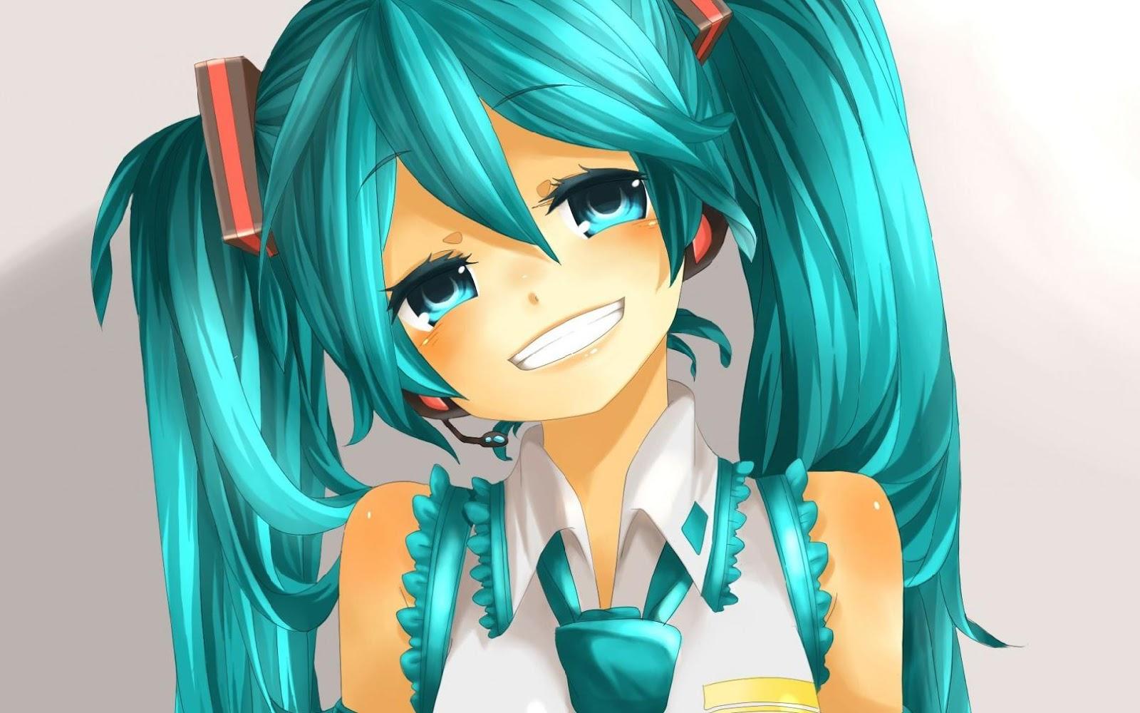 Wallpaper Animasi Korea Anime Girl Big Smile