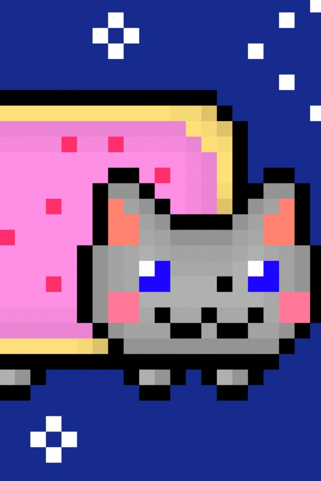 Download Nyan Cat Wallpaper, Nyan Cat 10 Hours Wallpaper - Draw A Nyan Cat , HD Wallpaper & Backgrounds
