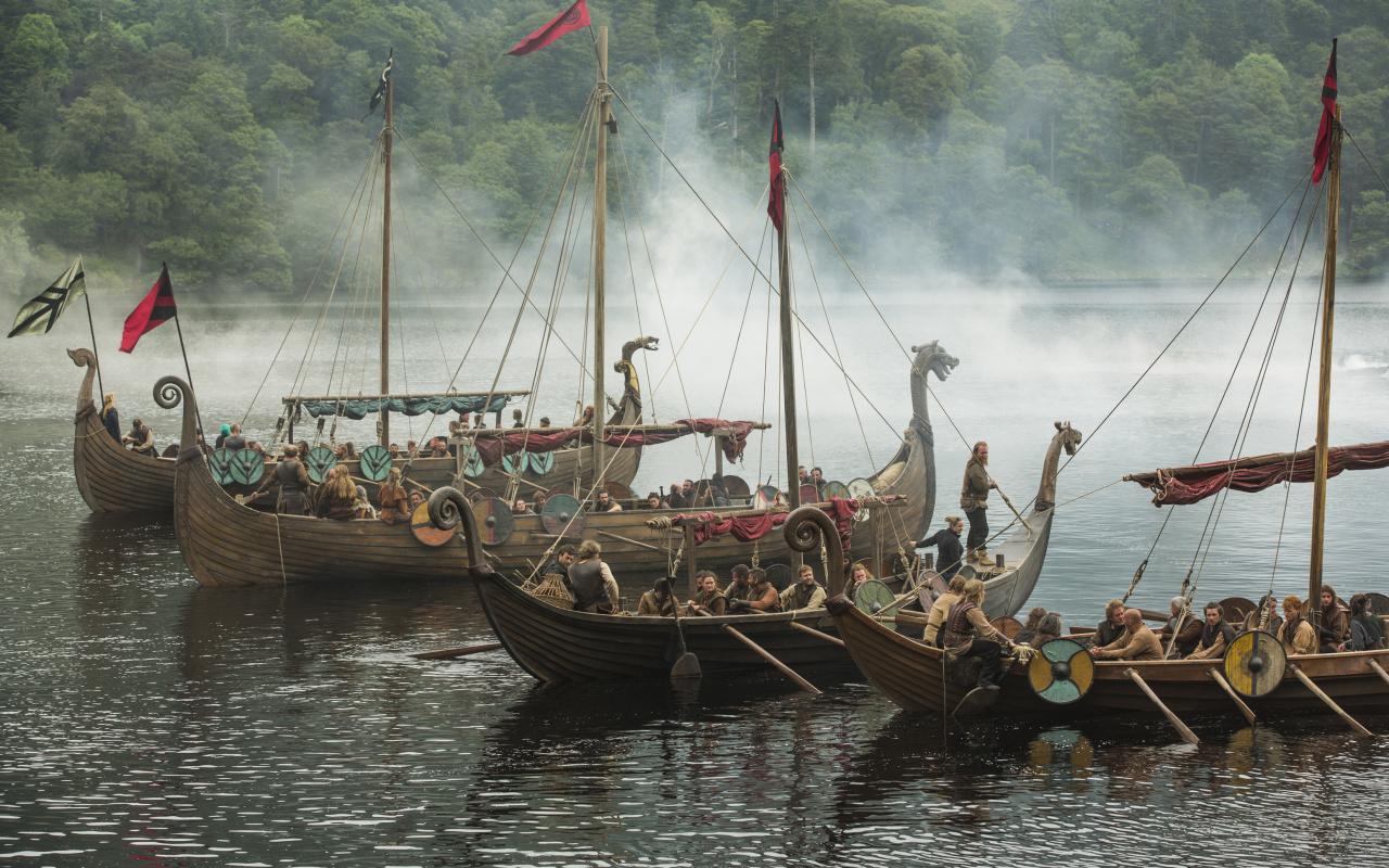 Vikings Boats Tv Series Sailing 2018 Wallpaper