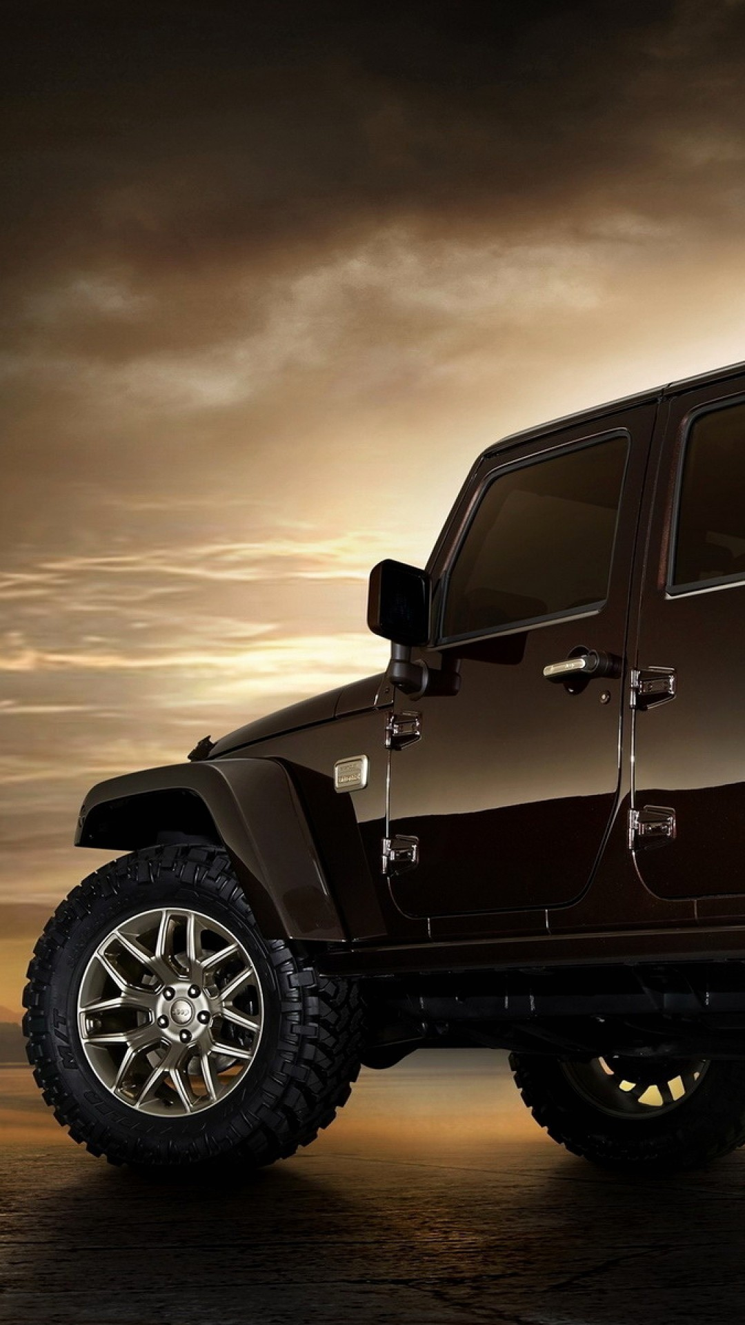 Awesome Wallpaper Iphone Jeep - Jeep Wrangler 4 Portas 2017 , HD Wallpaper & Backgrounds