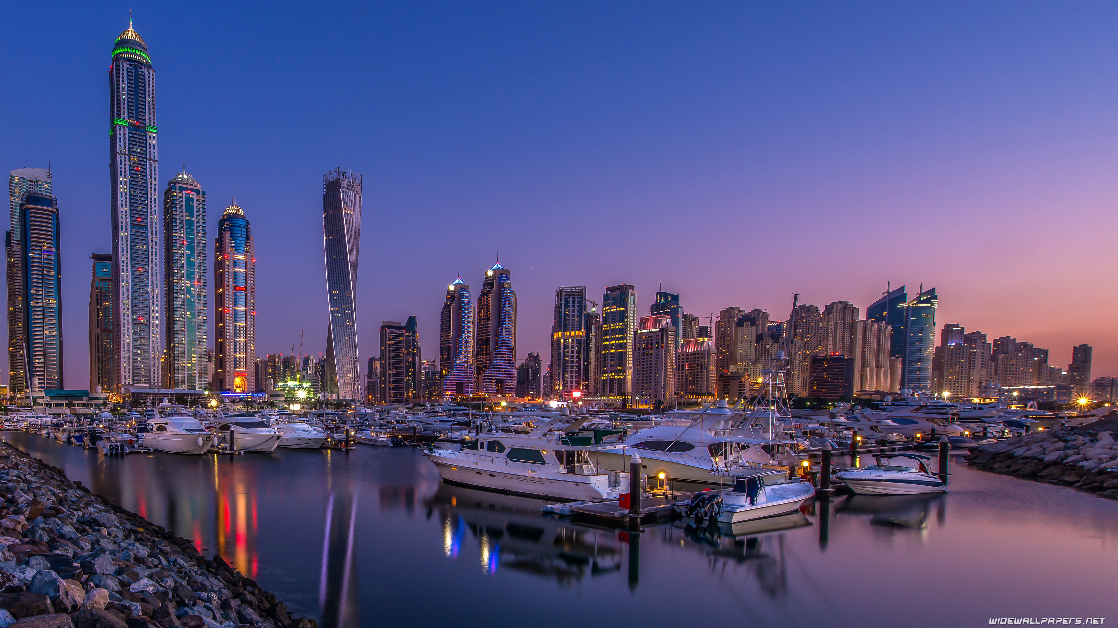 Dubai Desktop Wallpapers 4k Ultra Hd 2 - Dubai Skyline Wallpaper 4k , HD Wallpaper & Backgrounds