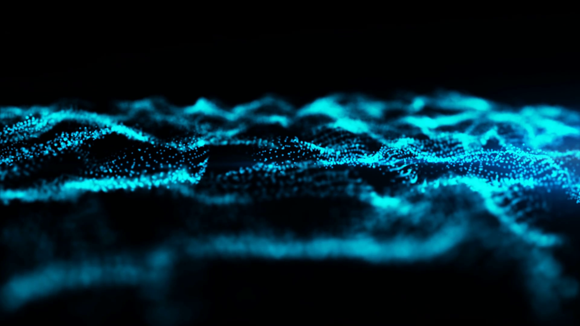 Digital Loop Wave Particles Flow Abstract Background Blue