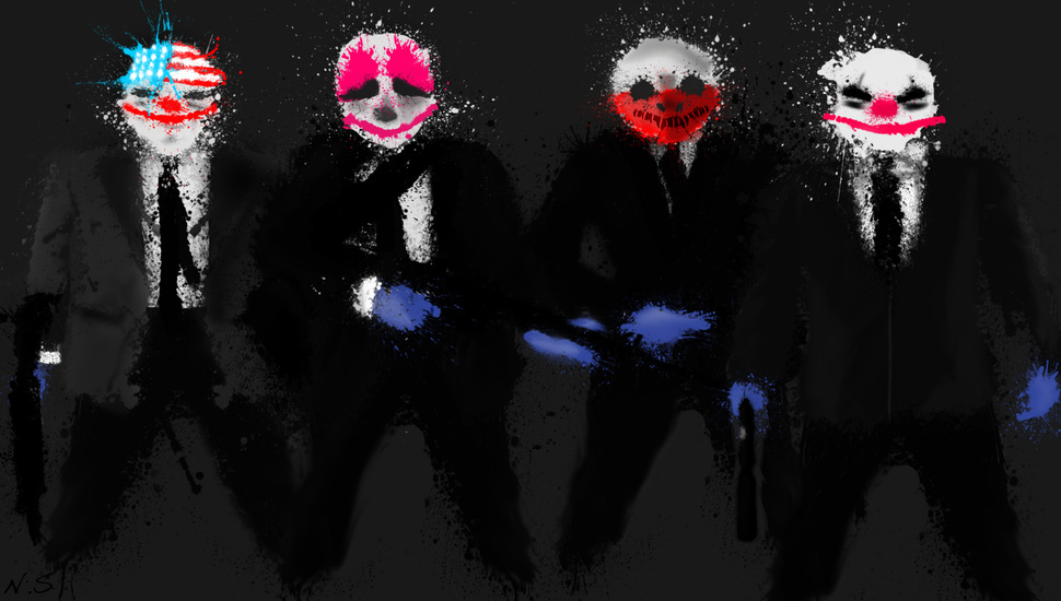 Payday 2, Game Desktop Background - Pay Day 2 Art , HD Wallpaper & Backgrounds