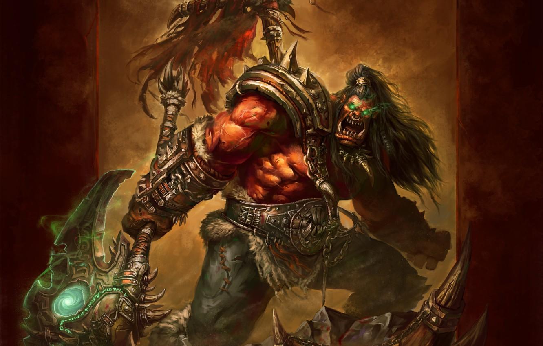 Photo Wallpaper Warrior Orc Wow Grom Hellscream