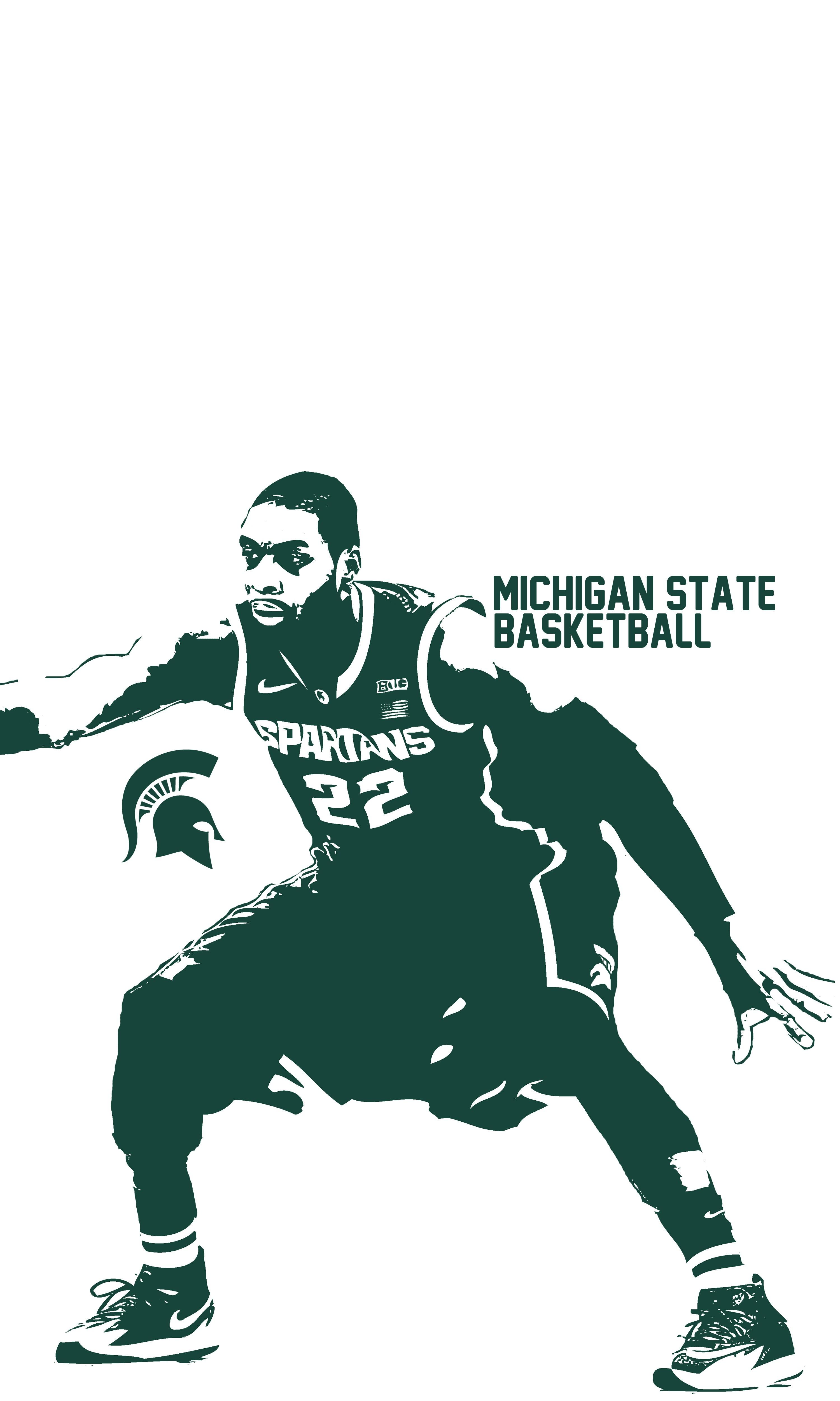 Branden Dawson Iphone Wallpaper Michigan State Basketball