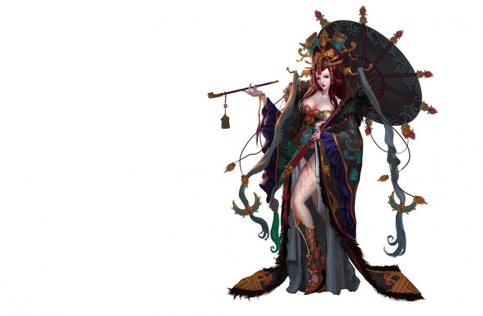 Fantasy Art, Anime Girls, Redhead, Tobacco Pipe Wallpaper - Fantasy Art Anime Girls Anime Fantasy Wallpaper Hd , HD Wallpaper & Backgrounds