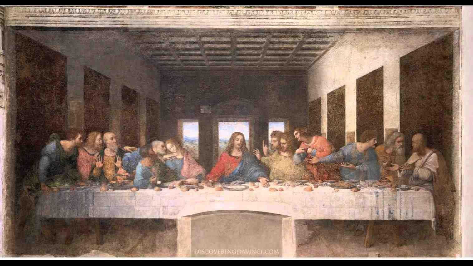 The Last Supper Original Painting By Leonardo Da Vinci Last Supper Painting Restoration 1190583 Hd Wallpaper Backgrounds Download