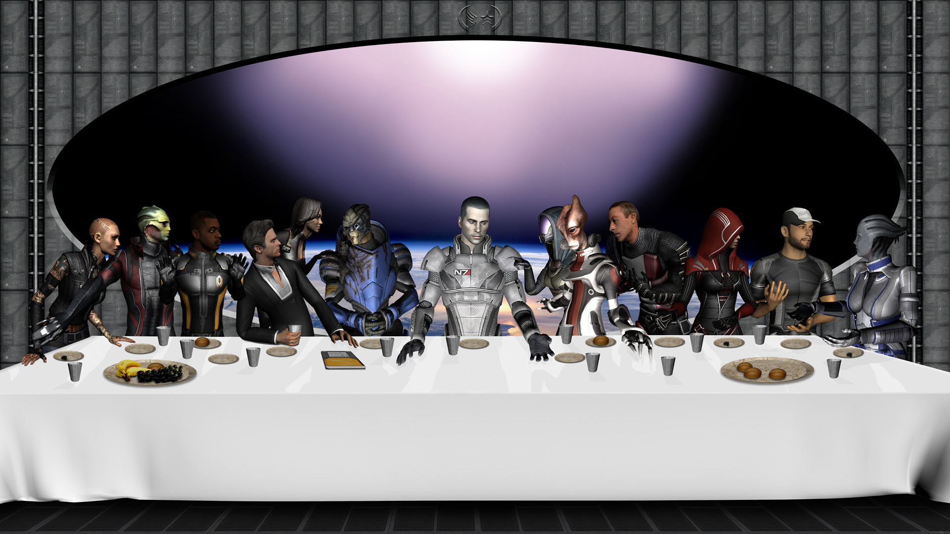 119 1190591 the last supper furry the last supper
