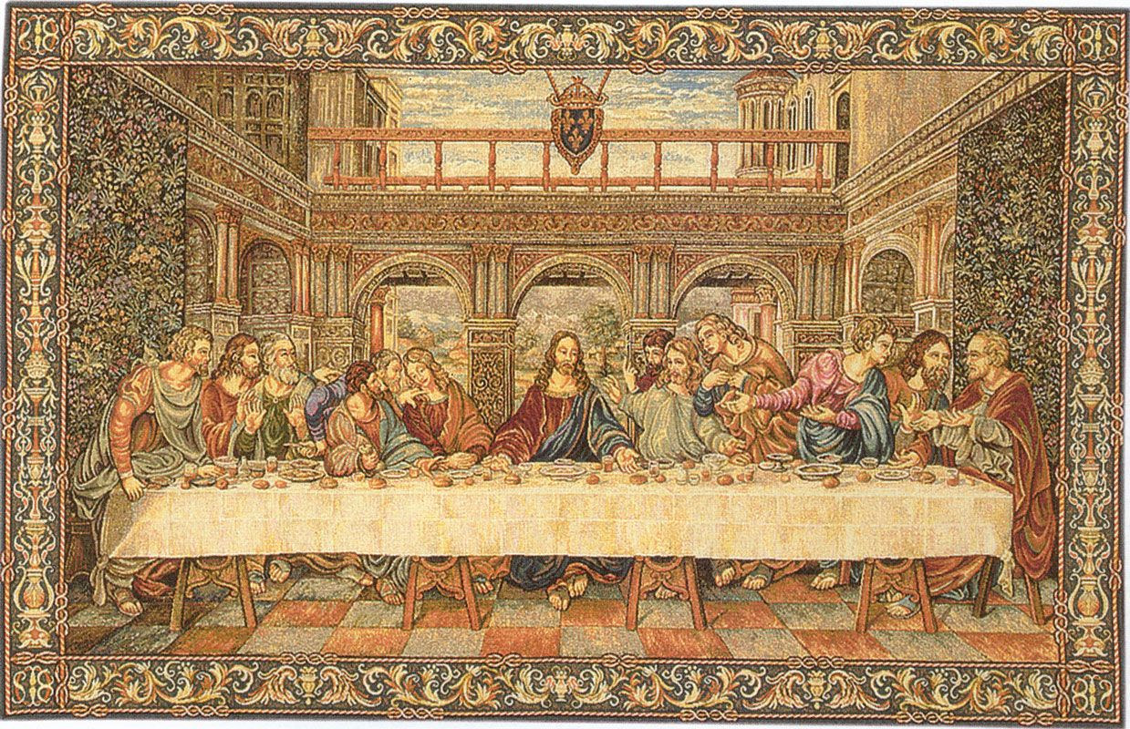 The Last Supper Original Painting By Leonardo Da Vinci
