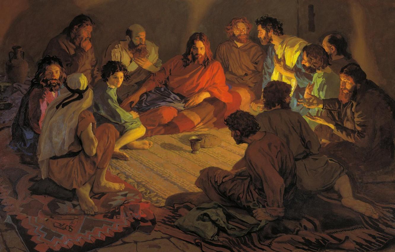 Photo Wallpaper The Last Supper Jesus Christ Popov Aleksandr Ivanov Tajnaya Vecherya 1190672 Hd Wallpaper Backgrounds Download