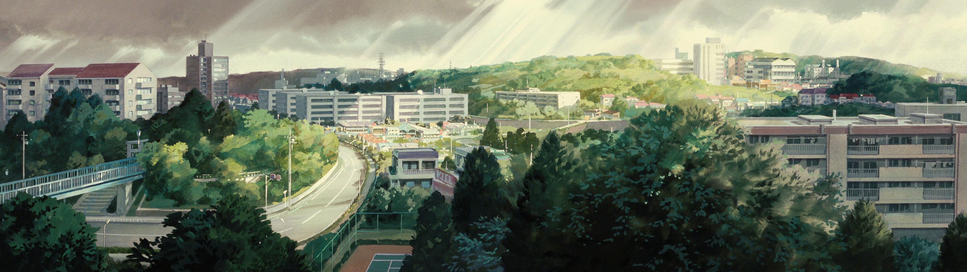 Studio Ghibli Dual Monitor Wallpaper