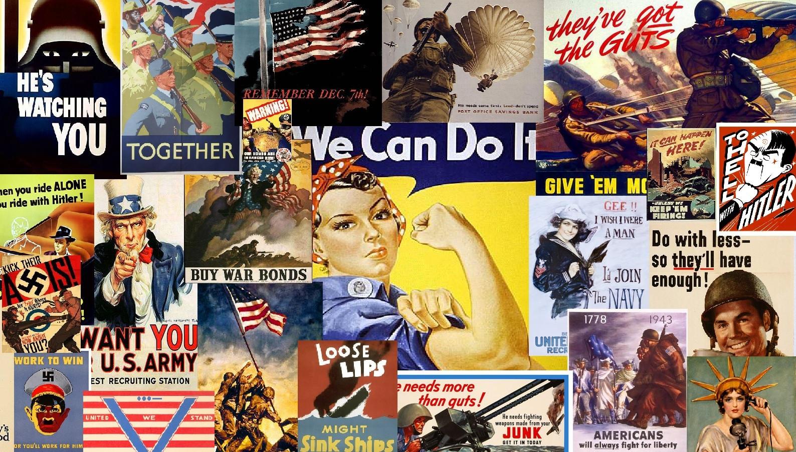Wallpaper I Created Using Wwii Propaganda Posters Propaganda Posters Ww2 Collage 1194848 Hd Wallpaper Backgrounds Download