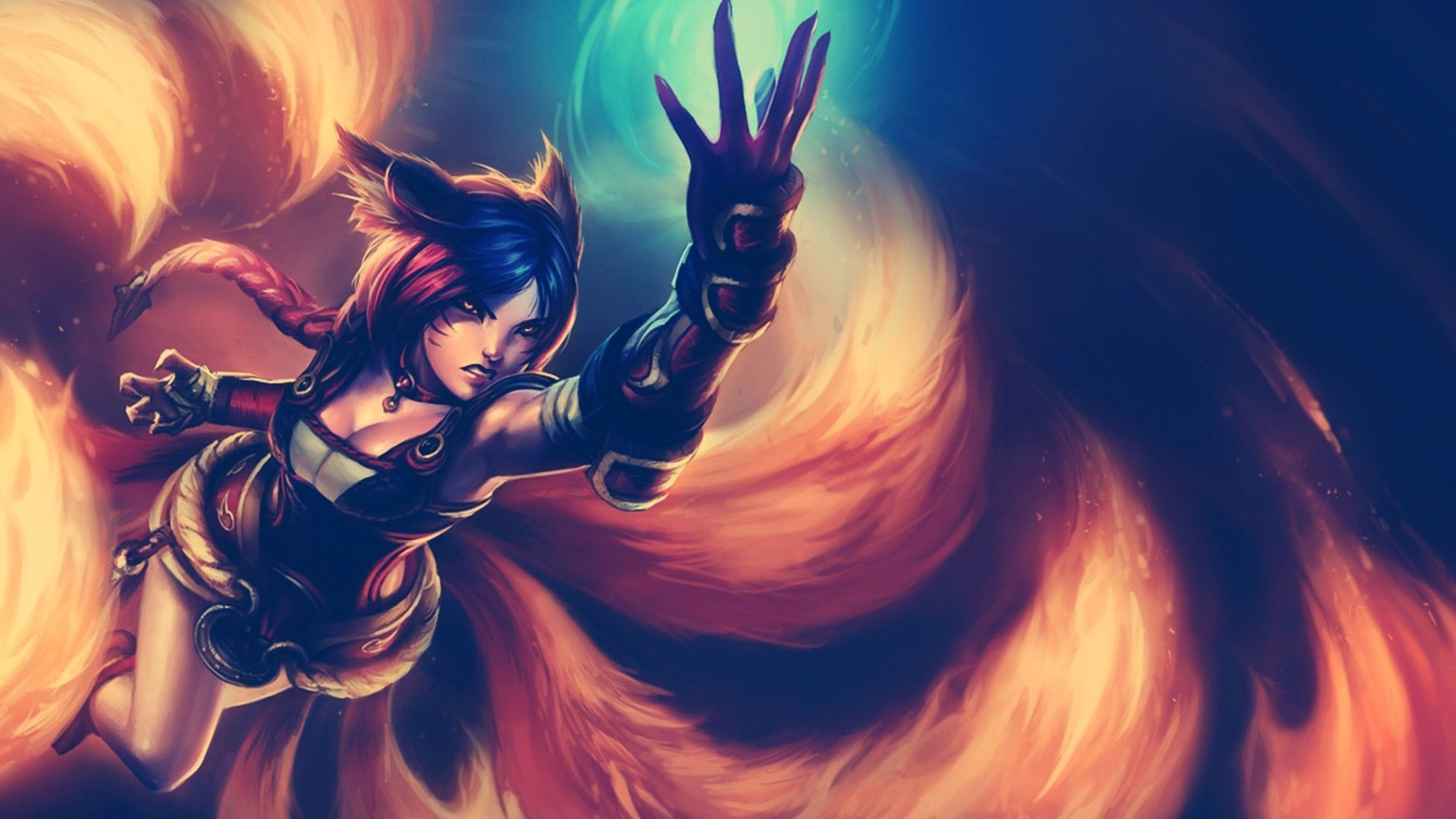 Ahri Background Hd Ahri Lol Wallpaper Hd 1194997 Hd
