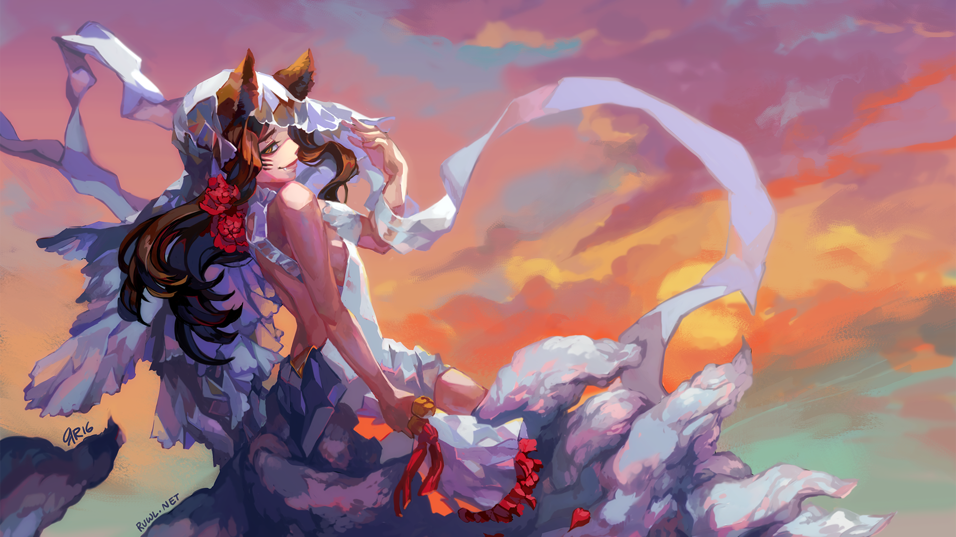 Wallpaper Ahri League Of Legends Gaming League Of Legends Hd