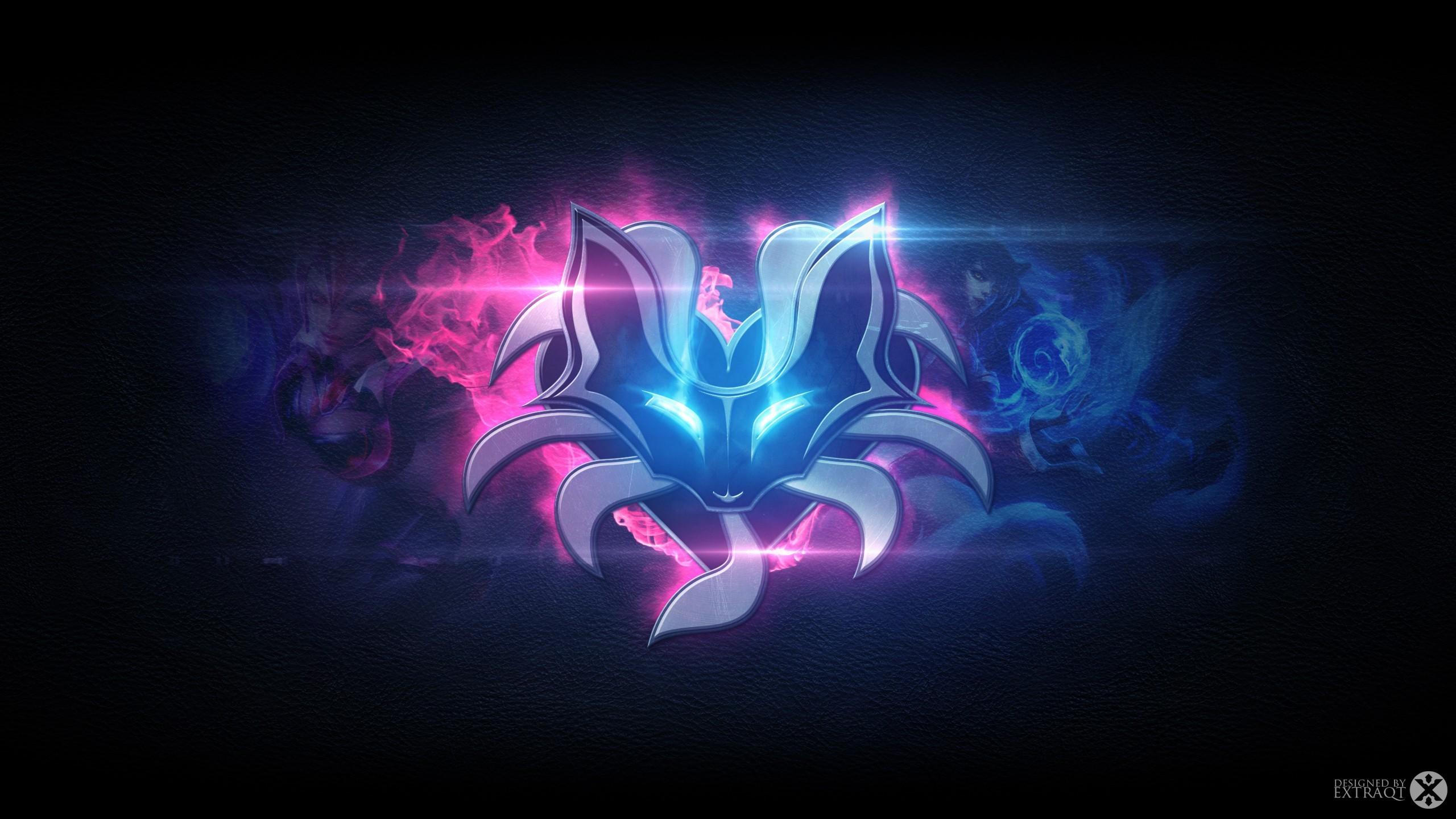 League Of Legends Ahri Wallpaper - Wolf Youtube Channel Art , HD Wallpaper & Backgrounds