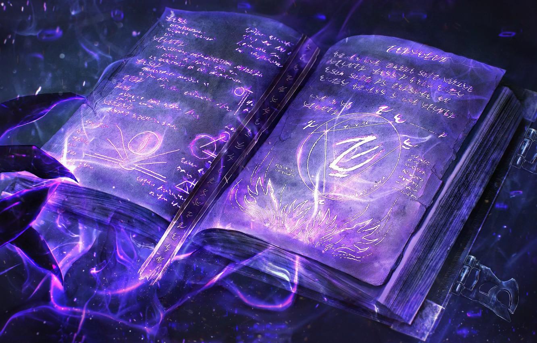 Photo Wallpaper Magic Book Runes Book Dark Magic Gw2