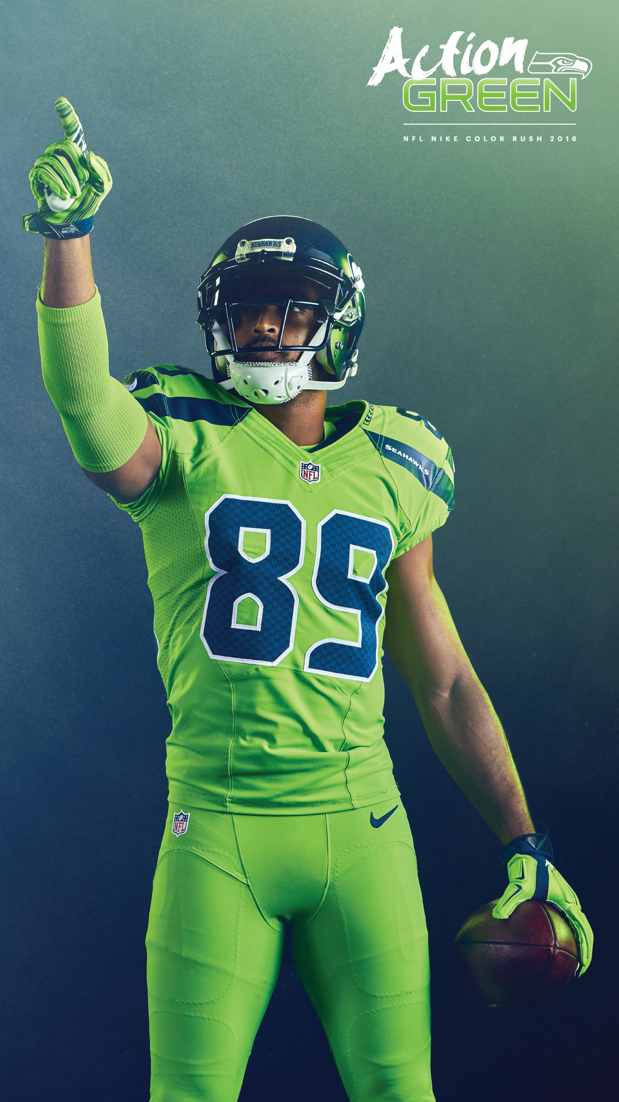 Iphone 6 Plus - Seattle Seahawks Color Rush , HD Wallpaper & Backgrounds