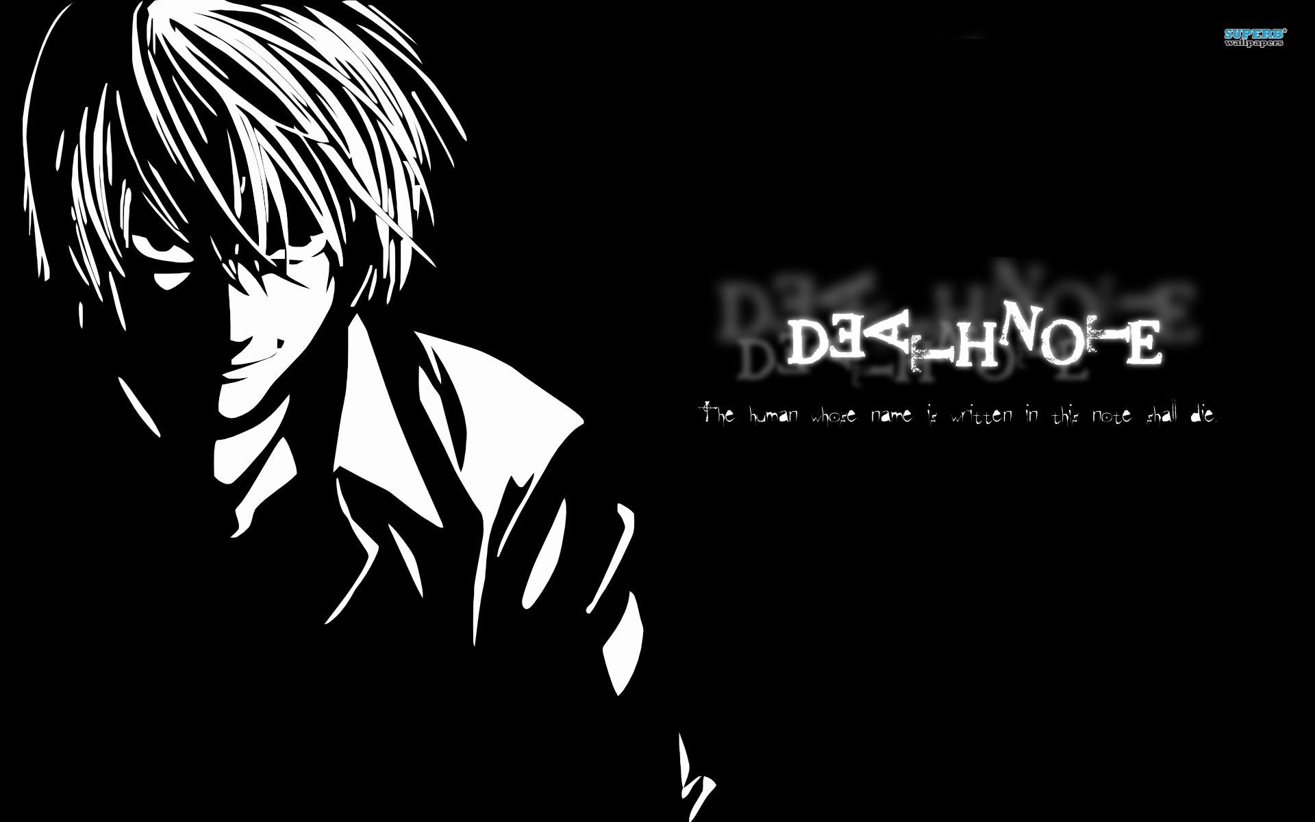 Death Note Light Wallpaper Death Note Black Light 124778 Hd