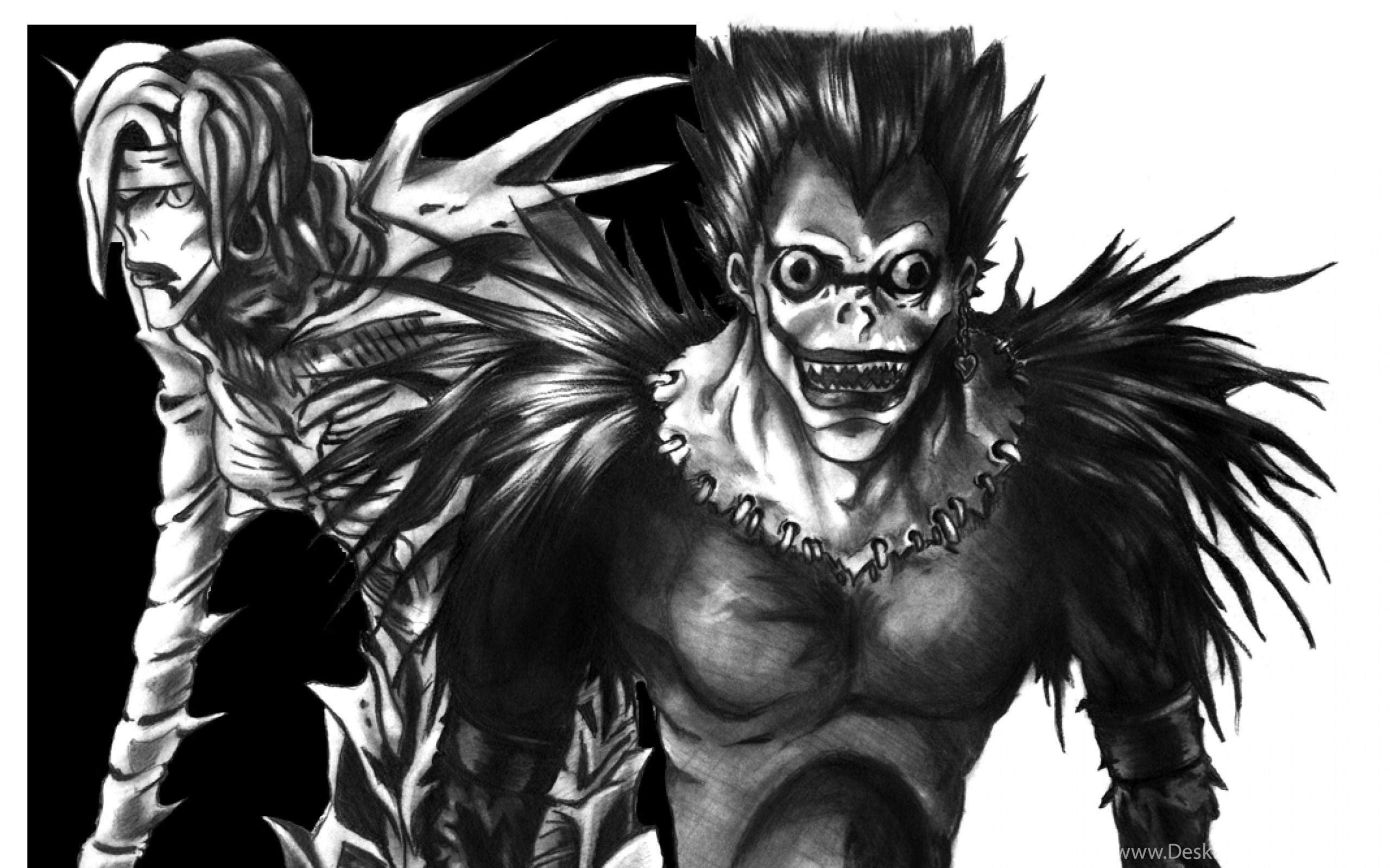 Death Note Ryuk Wallpapers Wide Death Note Ryuk E Rem