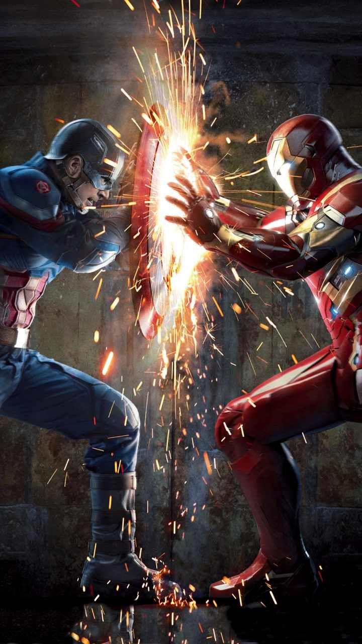 Captain America Vs Ironman Civil War - Civil War Wallpaper Iphone , HD Wallpaper & Backgrounds