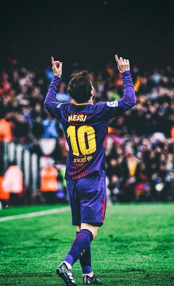 Barça Universal - Lionel Messi Vs Atletico Madrid 2018 , HD Wallpaper & Backgrounds