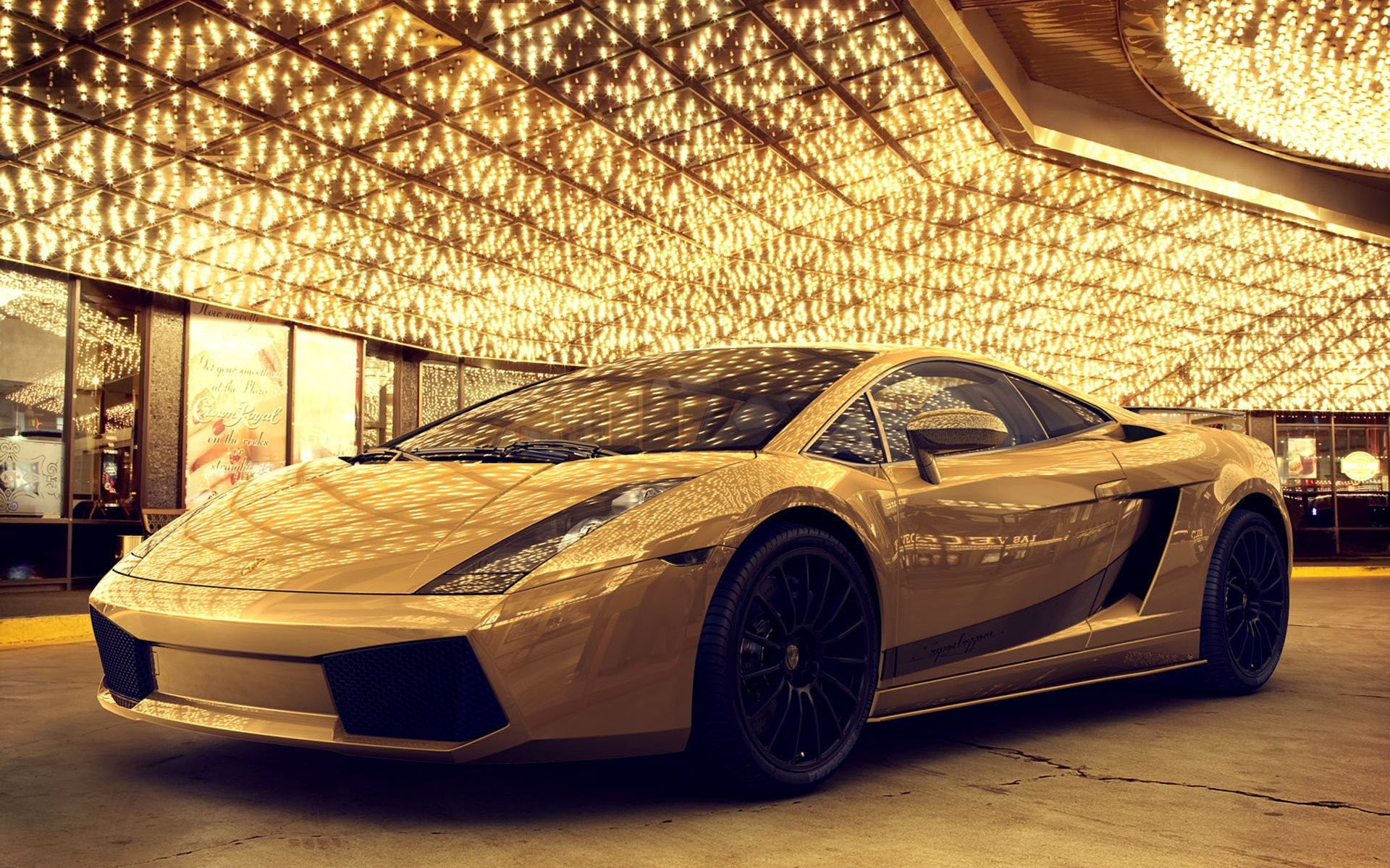 Gold Car (127443) , HD Wallpaper \u0026 Backgrounds Download