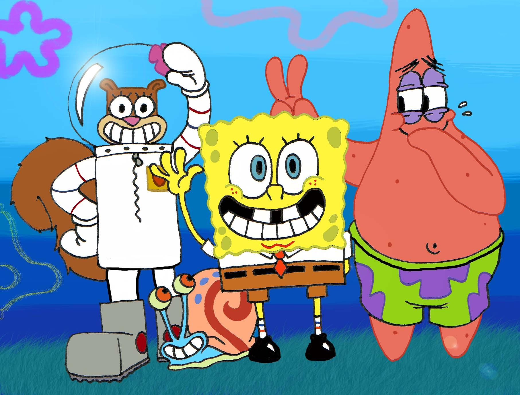 Spongebob Squarepants Characters Spongebob And Patrick And