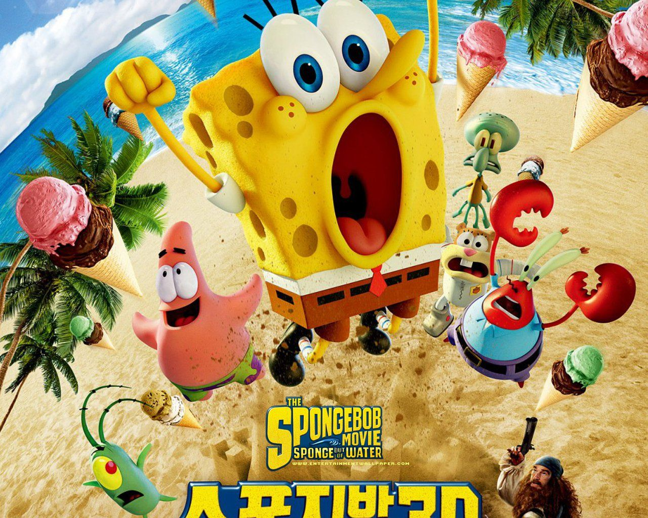 The Spongebob Movie - Sponge Out Of Water Bts , HD Wallpaper & Backgrounds