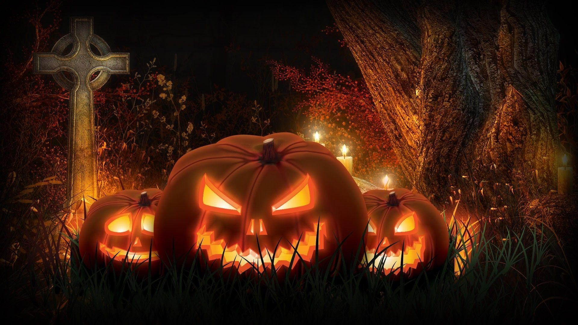 Scary Halloween Pumpkin Wallpaper 1080p Halloween Jack O Lantern