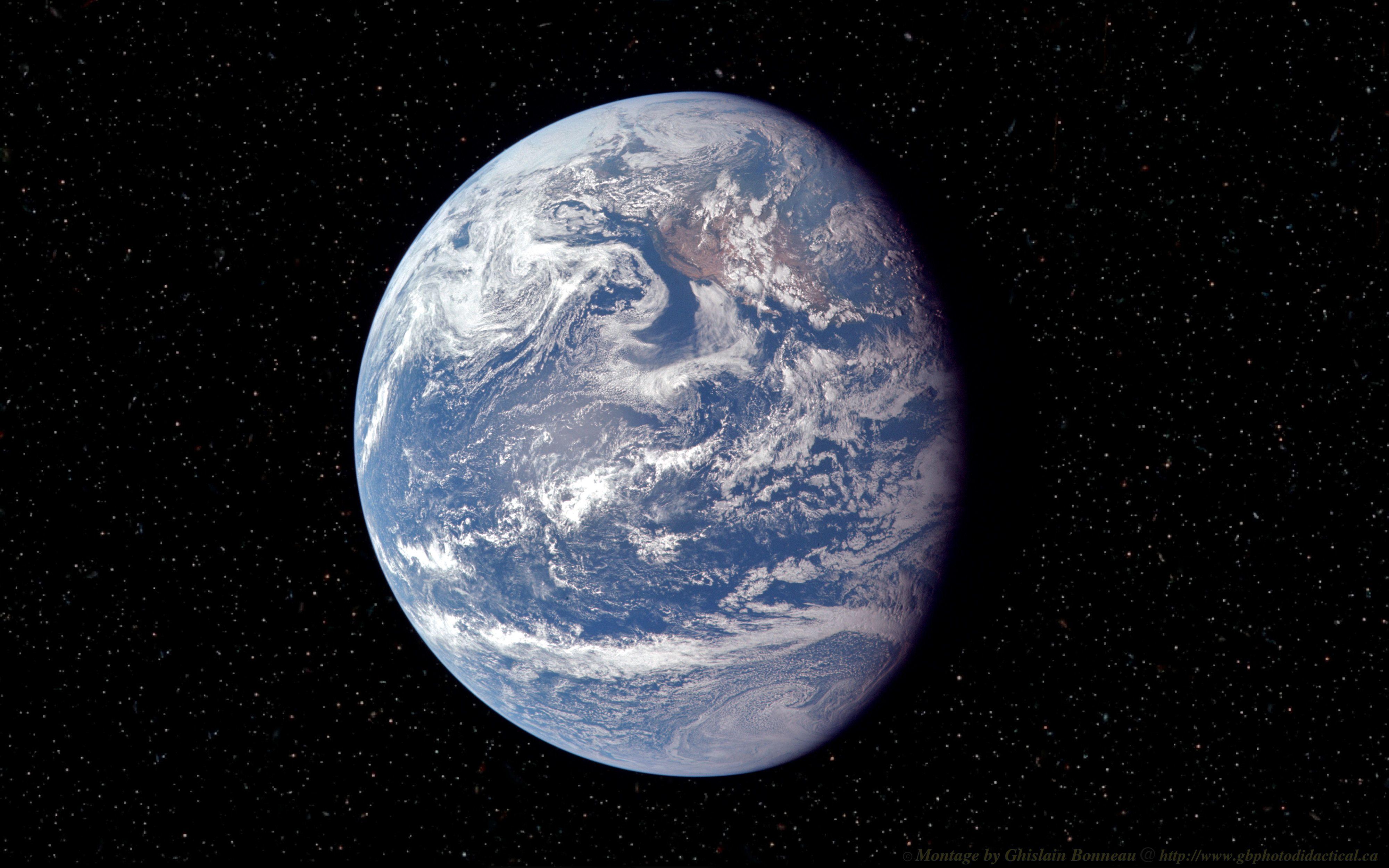 Apple Logo Shaped Earth Desktop Wallpaper > - Real Photography Of Earth , HD Wallpaper & Backgrounds