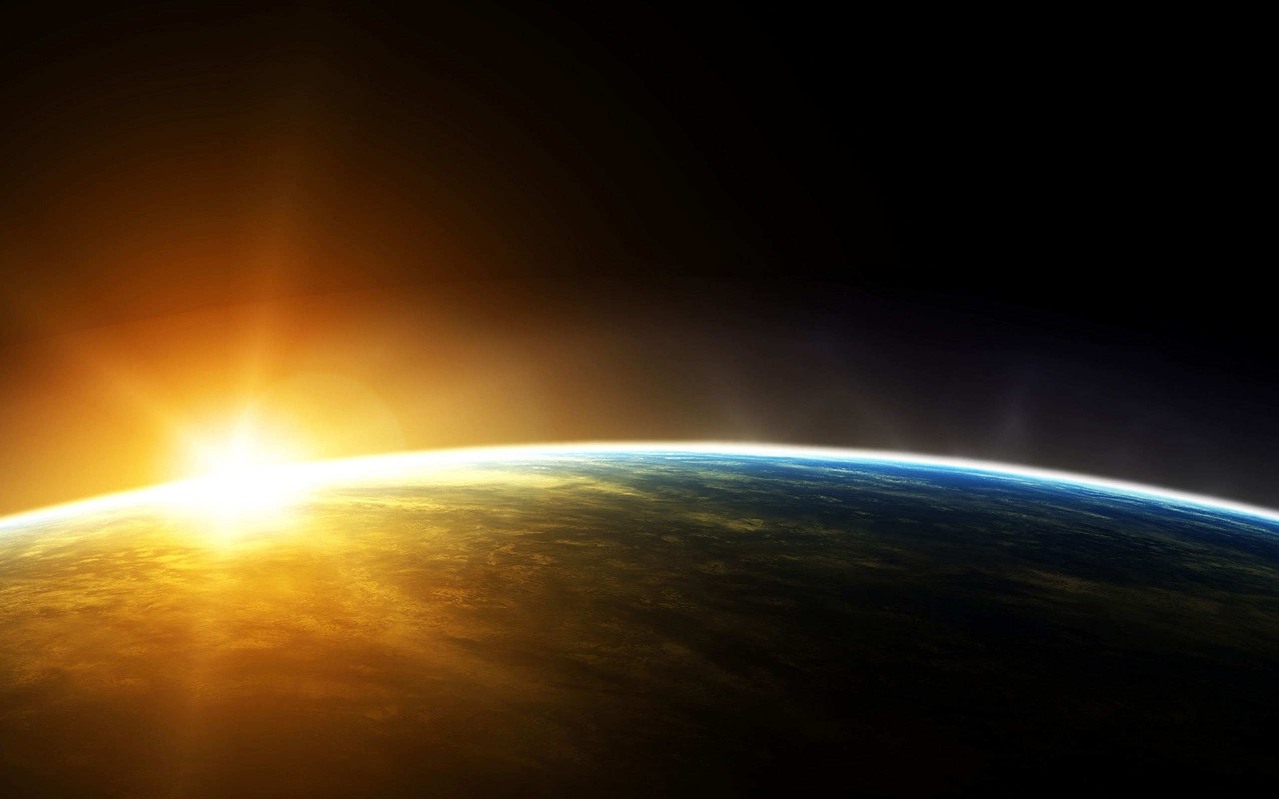 Sun And Earth Wallpaper - Sun Rise From Space , HD Wallpaper & Backgrounds