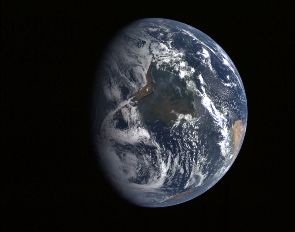 Planet Earth Seen From Messenger Near Infrared Earth