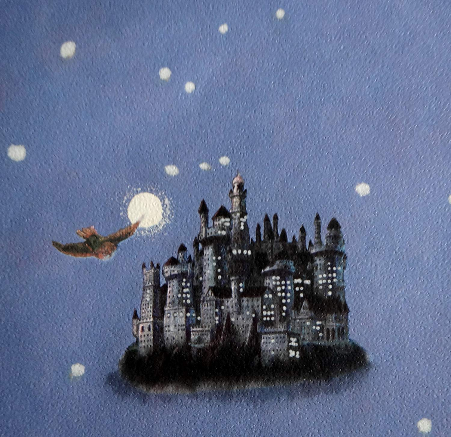 Hogwarts Castle Post Owls Denim Blue Harry Potter ハリー