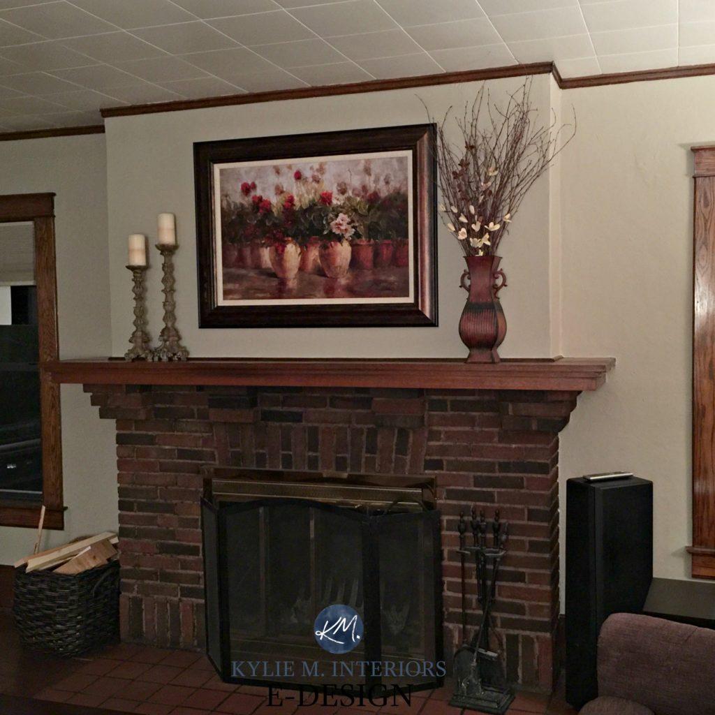 Best Paint Color For Dark Wood Trim Brick Fireplace Best Color