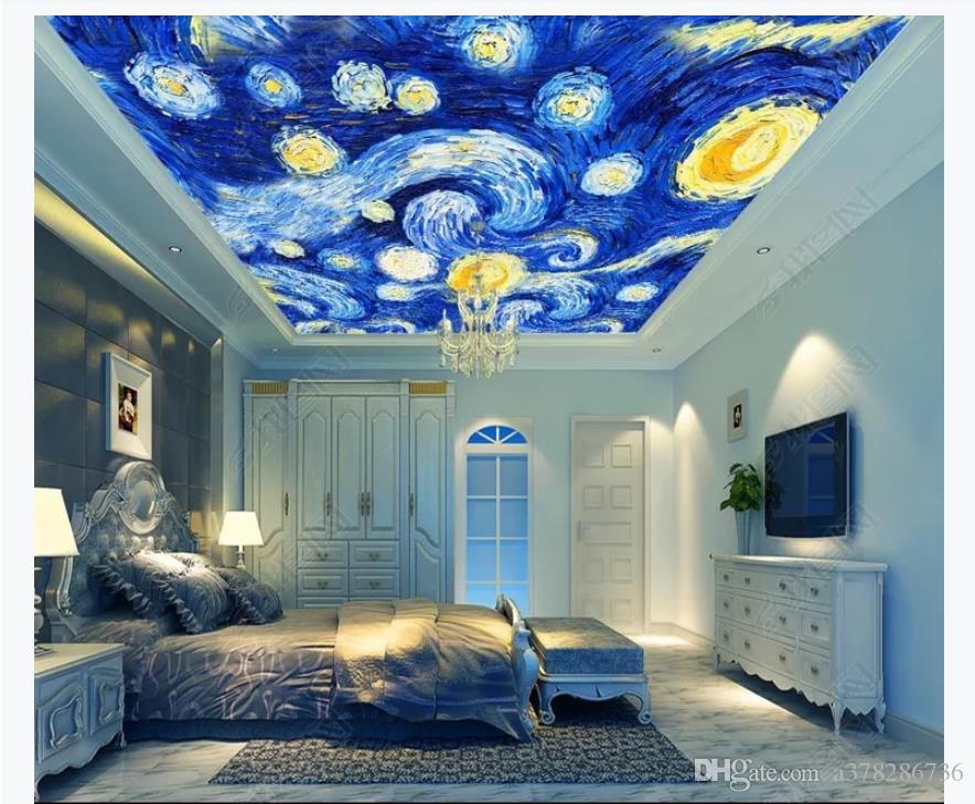 120 1204283 3d zenith mural custom photo ceiling wallpaper hd