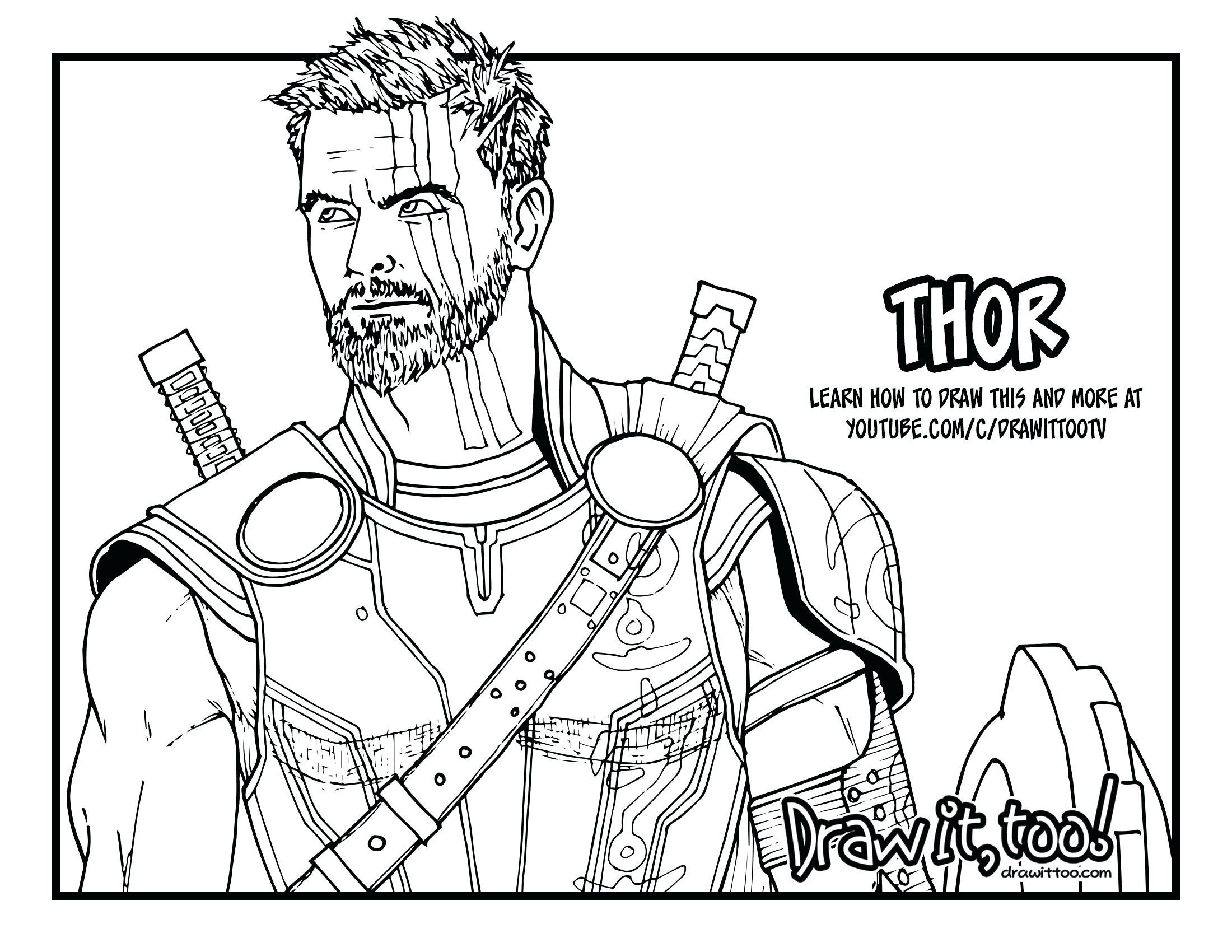 Thor Coloring Pages Thor Coloring Pages 1050c297875 - New Thor Coloring Pages , HD Wallpaper & Backgrounds