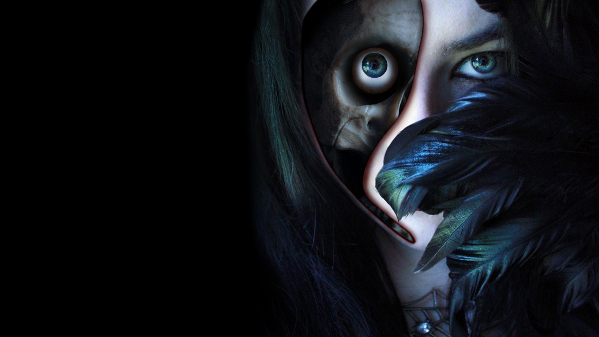 1024x768px 3d Scary Wallpapers Blue Eye Girl Vampire