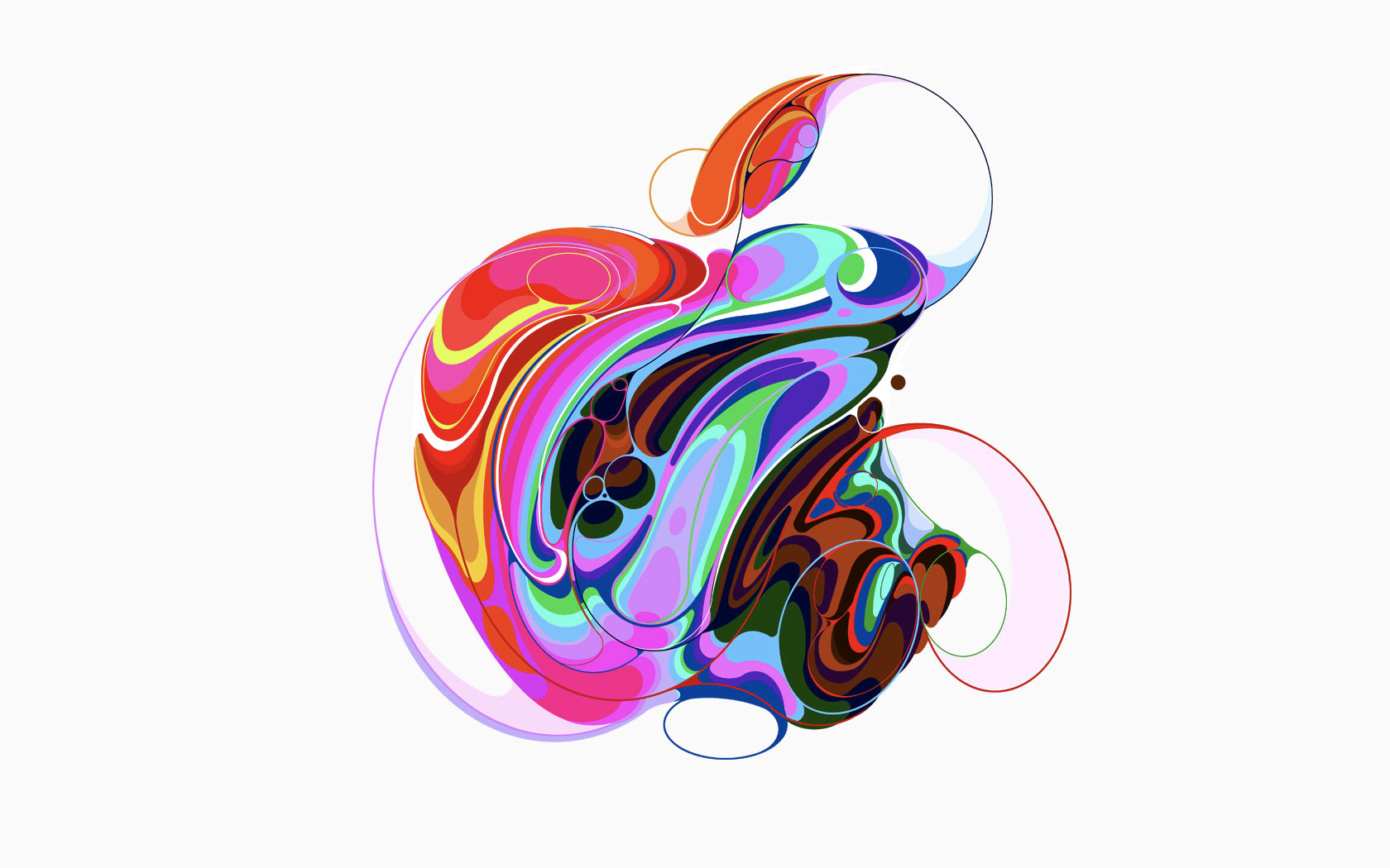 Enlarge One Of Several Styled Apple Logos Associated Apple Event October 2018 1211969 Hd Wallpaper Backgrounds Download