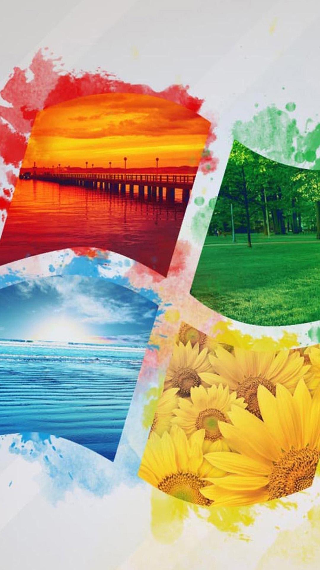 Color Moto X Windows Landscapes Android Wallpaper - Nature Windows 10 Wallpaper Hd , HD Wallpaper & Backgrounds