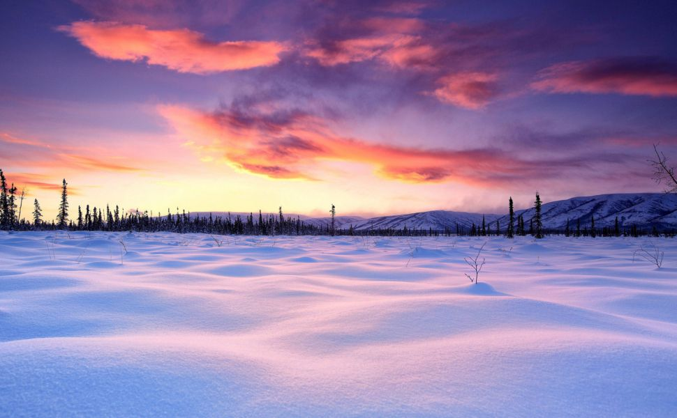 Download Coucher De Soleil Hiver Windows 10 Hd Wallpaper