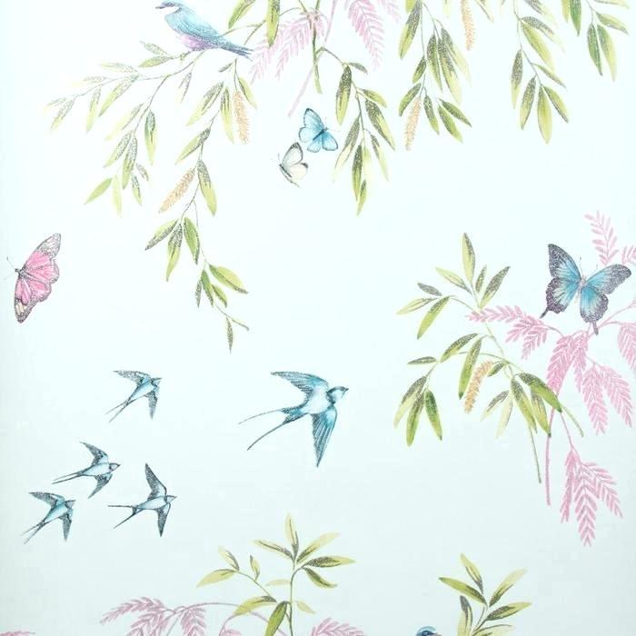 Designer Wallpaper Glitter - Arthouse Vintage Halcyon Days Cream Birds Butterflies , HD Wallpaper & Backgrounds
