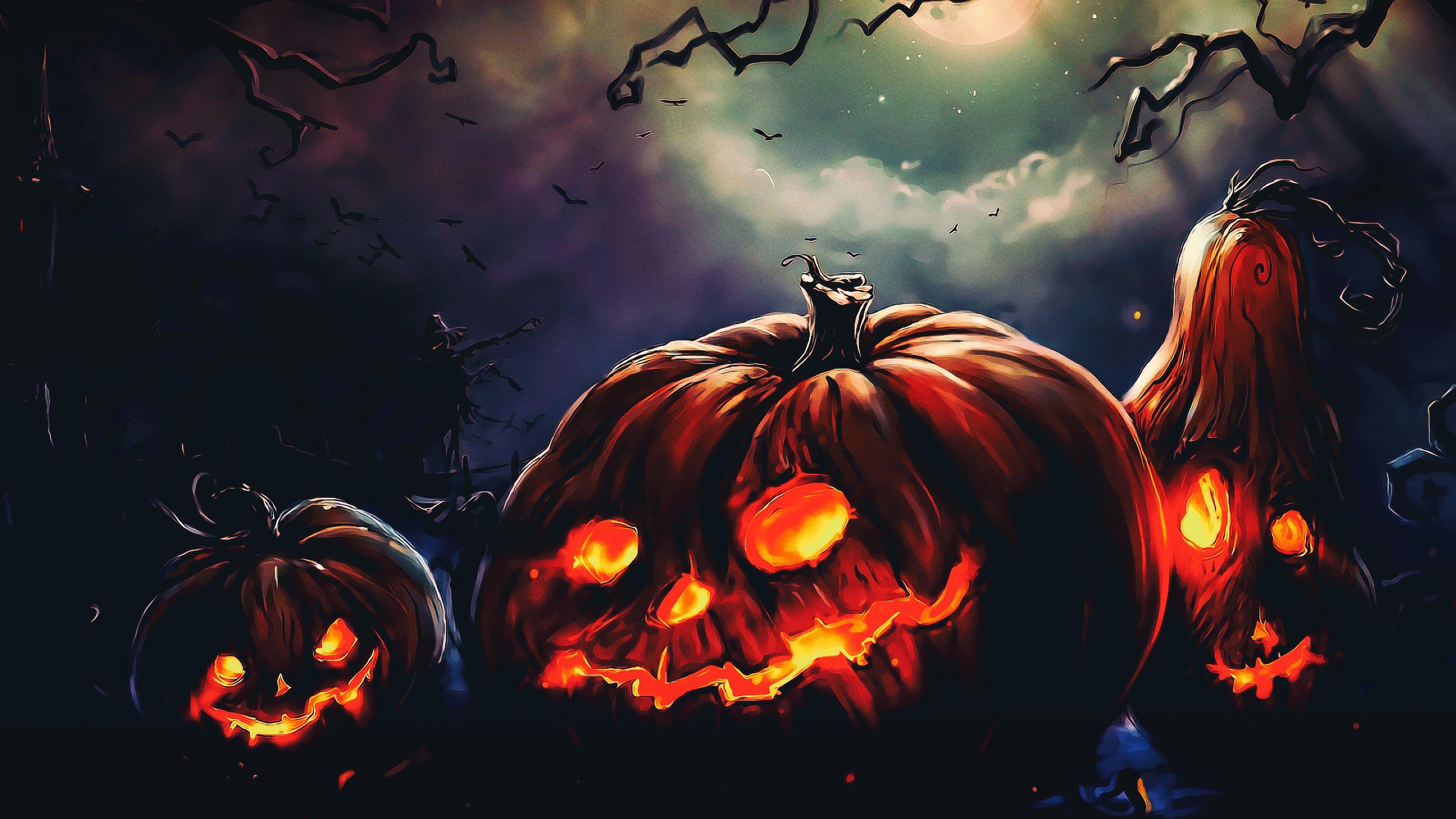 Halloween Scarecrow In The Field Hd Wallpaper Hd Terror