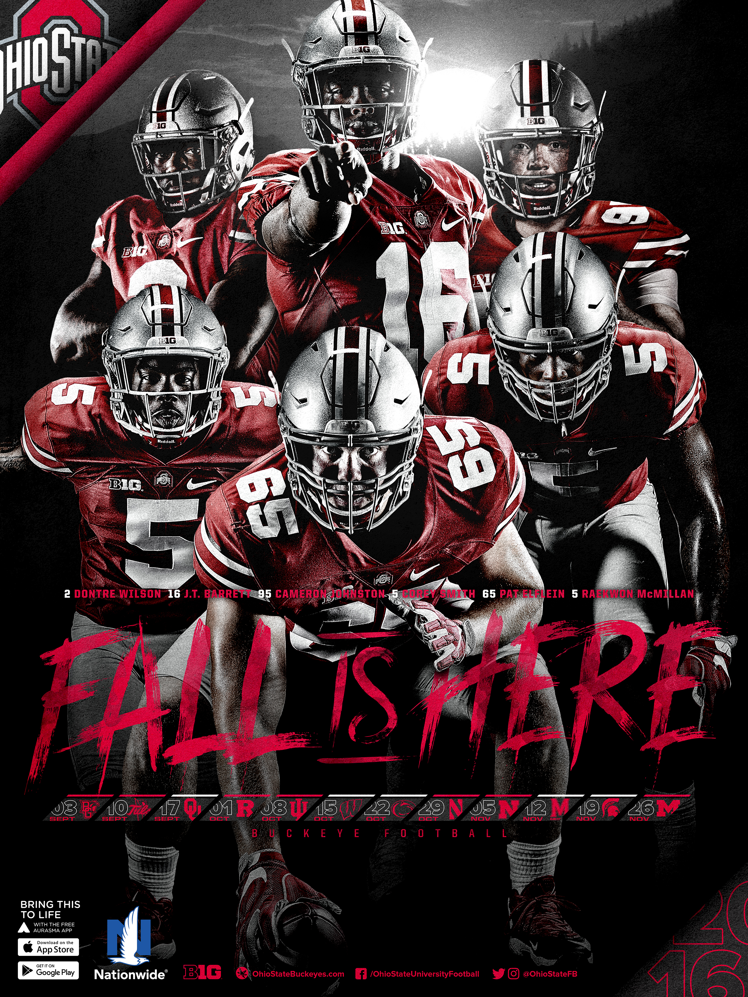 B5t4z6e Ohio State Buckeyes Football Wallpaper Ohio State Football Schedule Poster 2018 1223736 Hd Wallpaper Backgrounds Download
