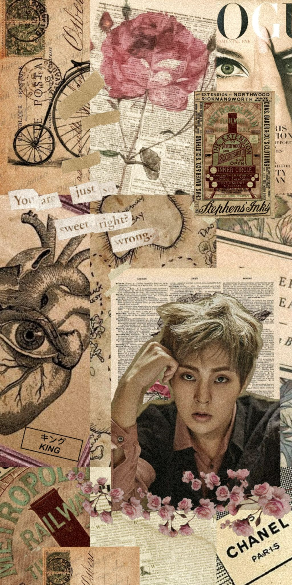 Xiumin Exo Lockscreen Wallpaper Aesthetic Collage Exo