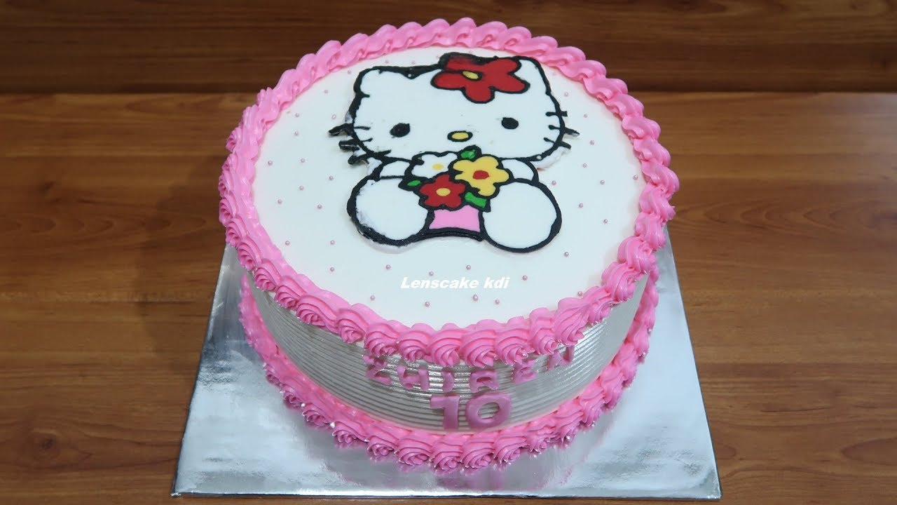 Decorating Cake Birthday Simple Tart Hello Kitty Cake Kue