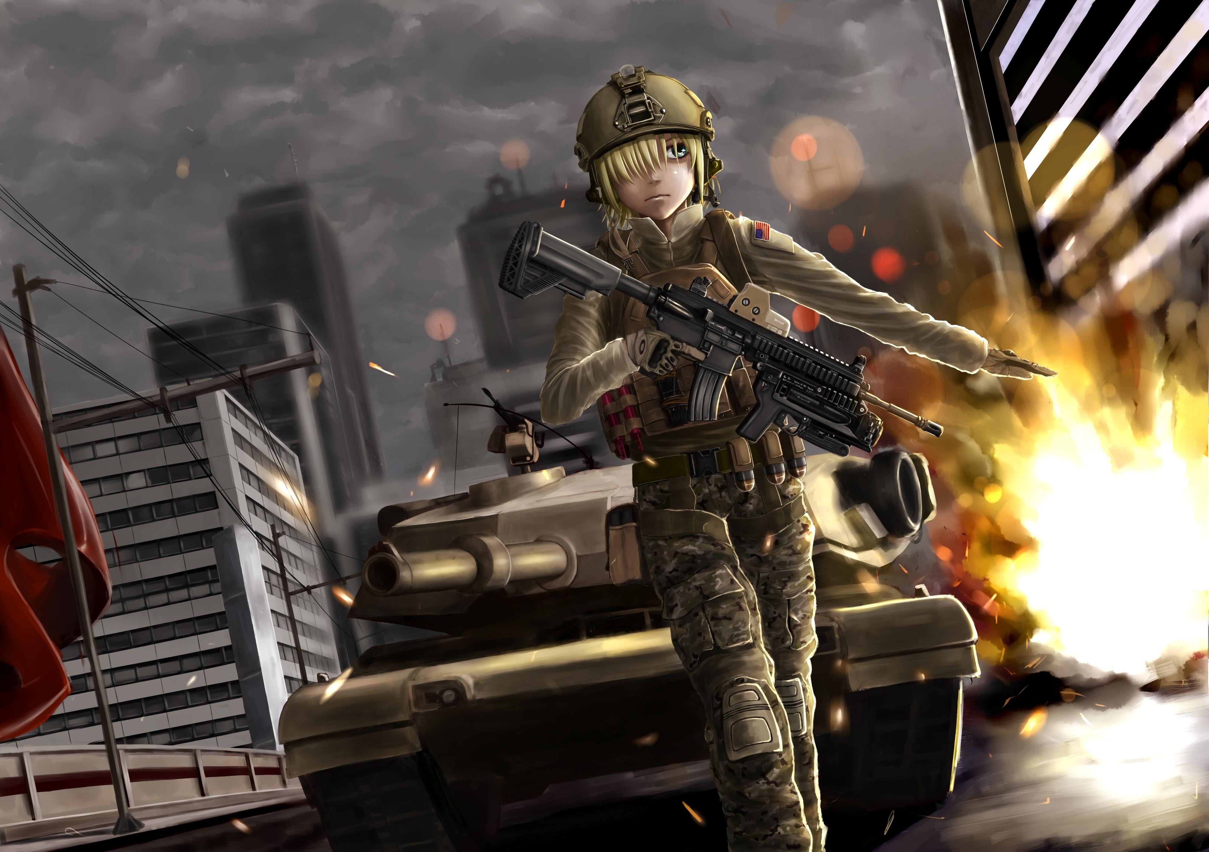 Original 4k Ultra Hd Wallpaper Anime Soldier 1226506